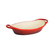 Load image into Gallery viewer, 2 Quart Oval Red Enameled Cast Iron Casserole | Lodge - InRugCo Studio & Gift Shop