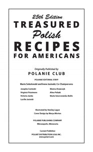 25th editions polish cookbook