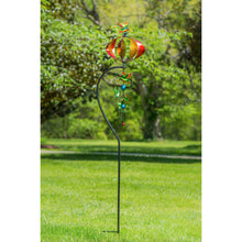"Load image into Gallery viewer, 76""H Hummingbird Orb with Twirler Combination Wind Spinner 