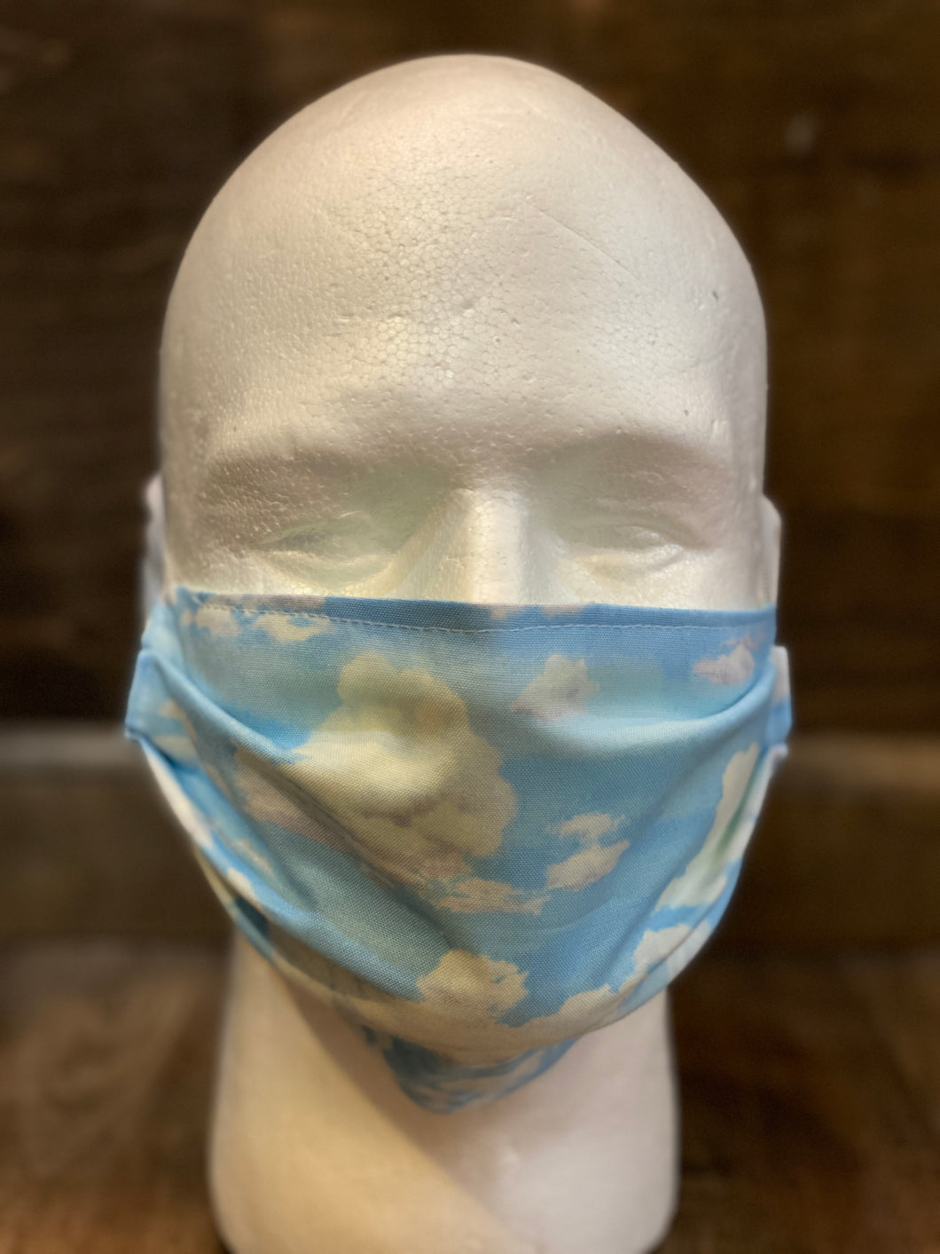 Blue Skies Print | Basic Fabric Face Mask - InRugCo Studio & Gift Shop