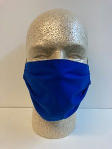 Solid Cobalt Blue Print | Basic Fabric Face Mask - InRugCo Studio & Gift Shop