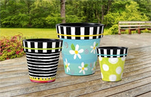 "Load image into Gallery viewer, Folk Garden Dots 12"" Art Planter - InRugCo Studio & Gift Shop"