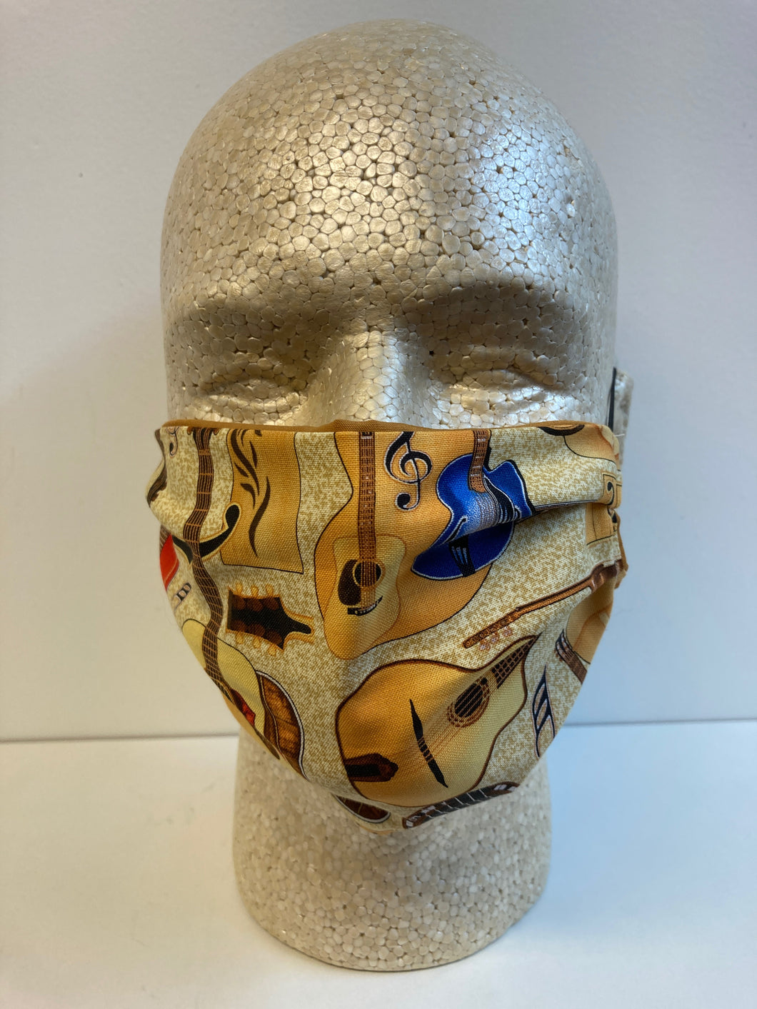 Guitars Print | Basic Fabric Face Mask - InRugCo Studio & Gift Shop