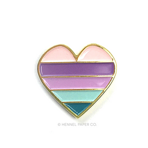 Heart Enamel Pin | Hennel Paper Co.