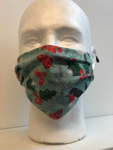 Winter Birds Print | Basic Fabric Face Mask