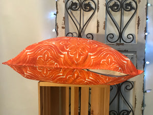 "20"" Rustic Orange Pillow Covers - InRugCo Studio & Gift Shop"