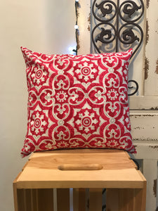 "18"" Red & Grey Pillow Covers - InRugCo Studio & Gift Shop"