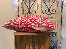 "Load image into Gallery viewer, 18"" Red & Grey Pillow Covers - InRugCo Studio & Gift Shop"