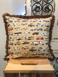 "18"" Motorhome & Camping Trailers Pillow Covers - InRugCo Studio & Gift Shop"