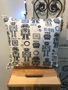 "18"" Robot Gear Pillow Covers - InRugCo Studio & Gift Shop"