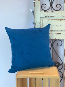 "18"" Solid Royal Blue Microsuede Pillow Covers - InRugCo Studio & Gift Shop"