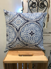 "Load image into Gallery viewer, 18"" Kaleidoscope Blue Pillow Covers - InRugCo Studio & Gift Shop"