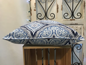 "18"" Kaleidoscope Blue Pillow Covers - InRugCo Studio & Gift Shop"