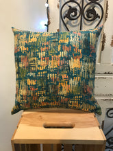 "Load image into Gallery viewer, 18"" Orange, Blue, Green Brush Strokes Pillow Covers - InRugCo Studio & Gift Shop"