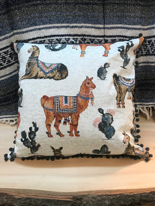 "20"" Llama Pillow - InRugCo Studio & Gift Shop"