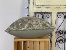 "Load image into Gallery viewer, 18"" Gray & White Medallion Pillow Covers - InRugCo Studio & Gift Shop"