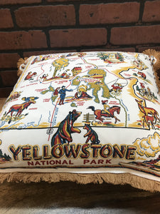 "20"" Yellowstone National Park Pillow - InRugCo Studio & Gift Shop"