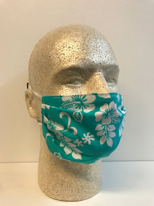 Turquoise Tropical | Basic Fabric Face Mask - InRugCo Studio & Gift Shop