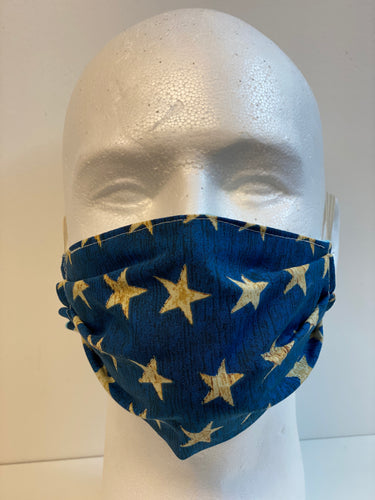 Blue Stars Print Basic Fabric Face Mask | InRugCo Studio & Gift Shop - InRugCo Studio & Gift Shop