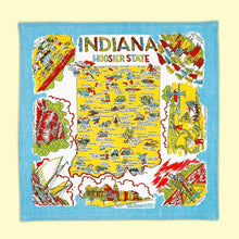 Load image into Gallery viewer, Indiana Map Tea Towel | Red & White Kitchen Company - InRugCo Studio & Gift Shop
