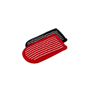 Red & Black Striped Patterned Hot Handle Holders | Lodge Cast Iron - InRugCo Studio & Gift Shop