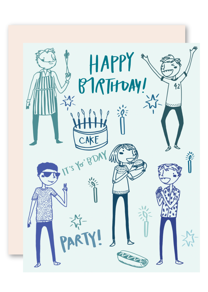Pencil-Joy-Guy-Party-Birthday-Card