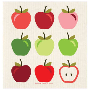 Potluck-Press-Apples-Multicolor-Swedish-Dishcloth