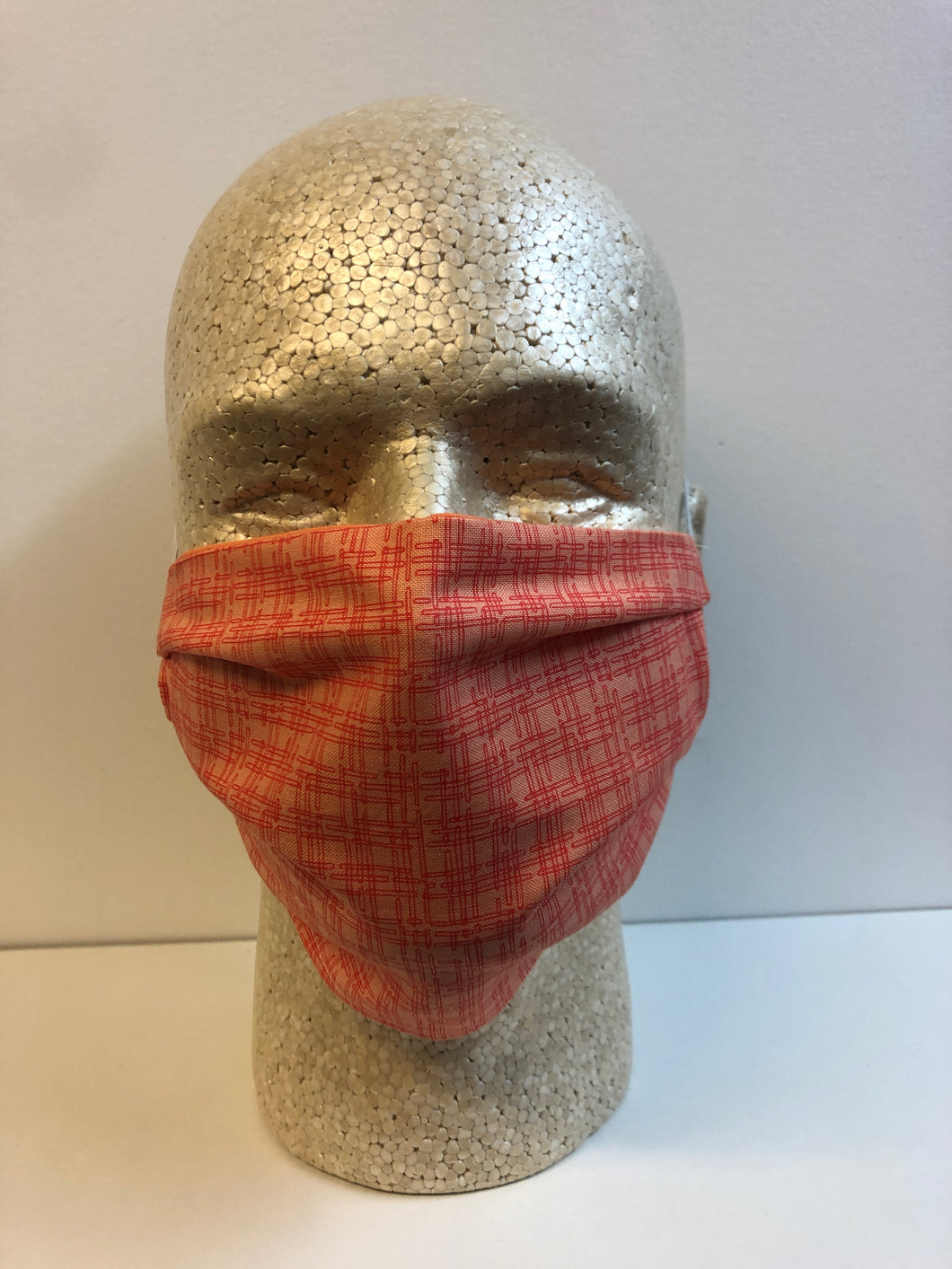 Red Maze Print | Basic Fabric Face Mask - InRugCo Studio & Gift Shop