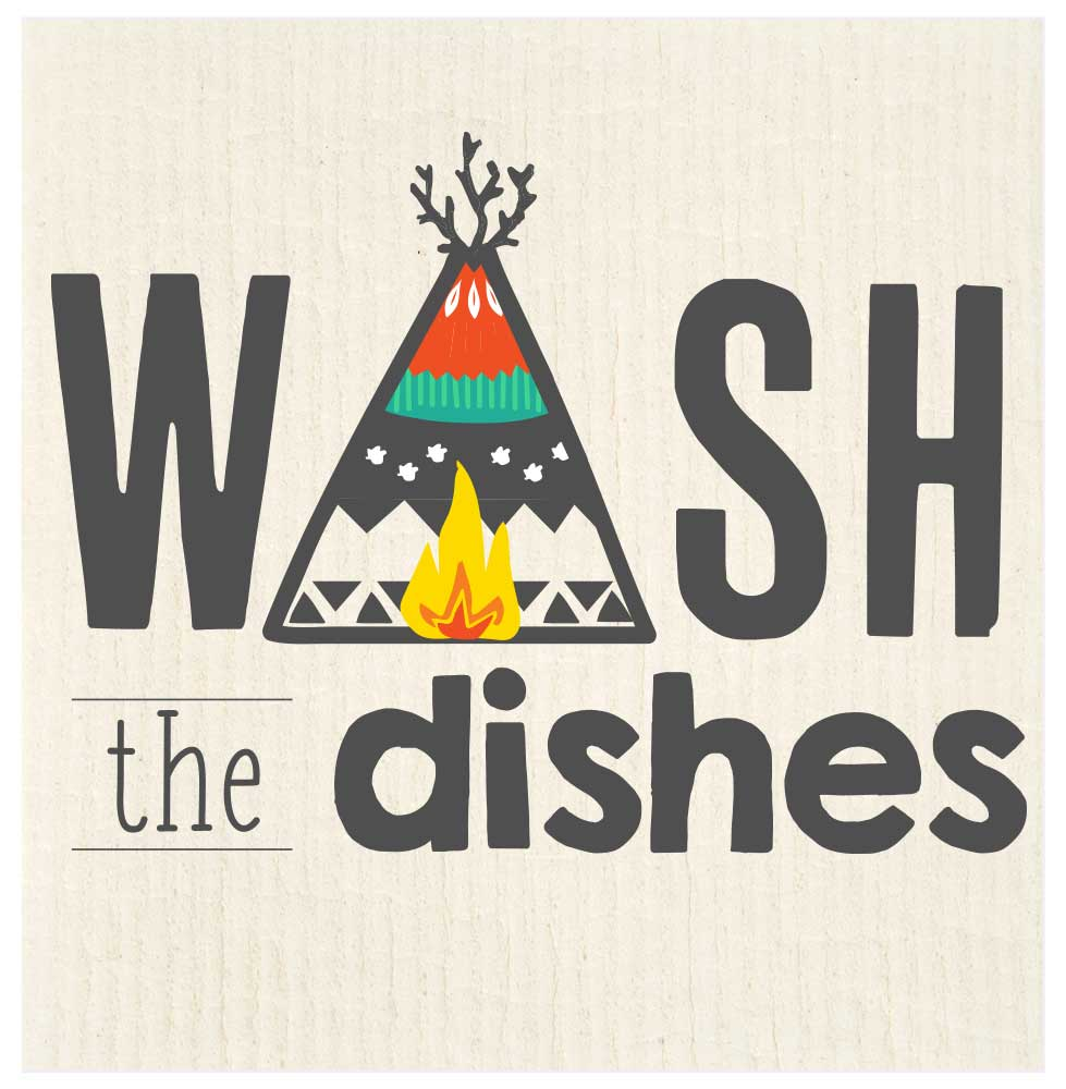 swedish dishcloth wash the dishes teepee studio potluck press sd132