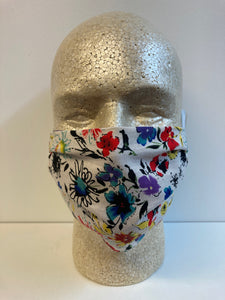 Watercolor Wildflowers Print | Basic Fabric Face Mask - InRugCo Studio & Gift Shop