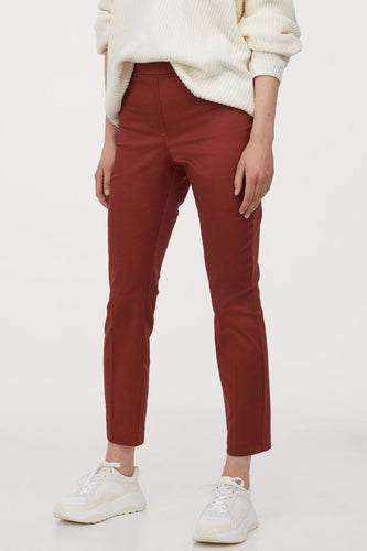 ankle length slacks brick