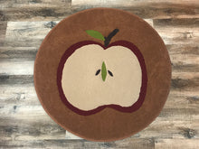 Load image into Gallery viewer, Apple w/Brown Background Area Rug - InRugCo Studio & Gift Shop