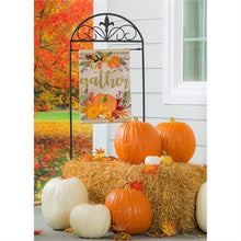 Load image into Gallery viewer, autumn garden flag evergreen
