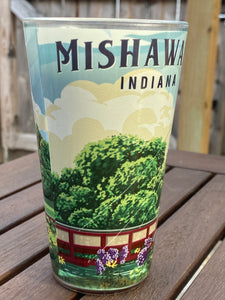 Mishawaka, IN Riverwalk Pint Glass | 16 oz.