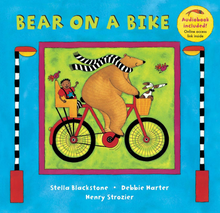 Load image into Gallery viewer, bear on a bike barefoot books