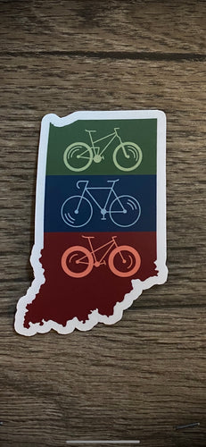 bike indiana sticker