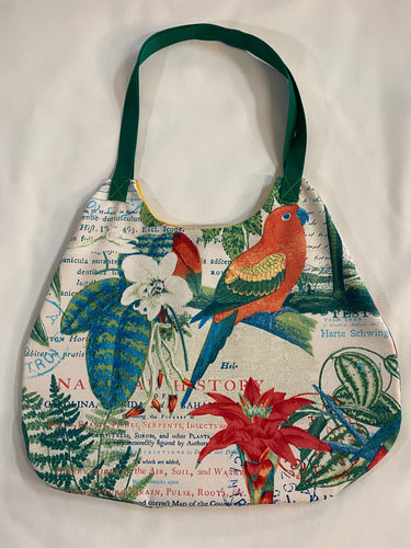 Tropical Birds Market Bag - InRugCo Studio & Gift Shop