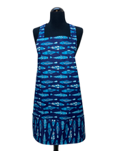 Load image into Gallery viewer, Blue Fish Apron - InRugCo Studio & Gift Shop