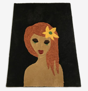 Bohemian Girl Area Rug - InRugCo Studio & Gift Shop
