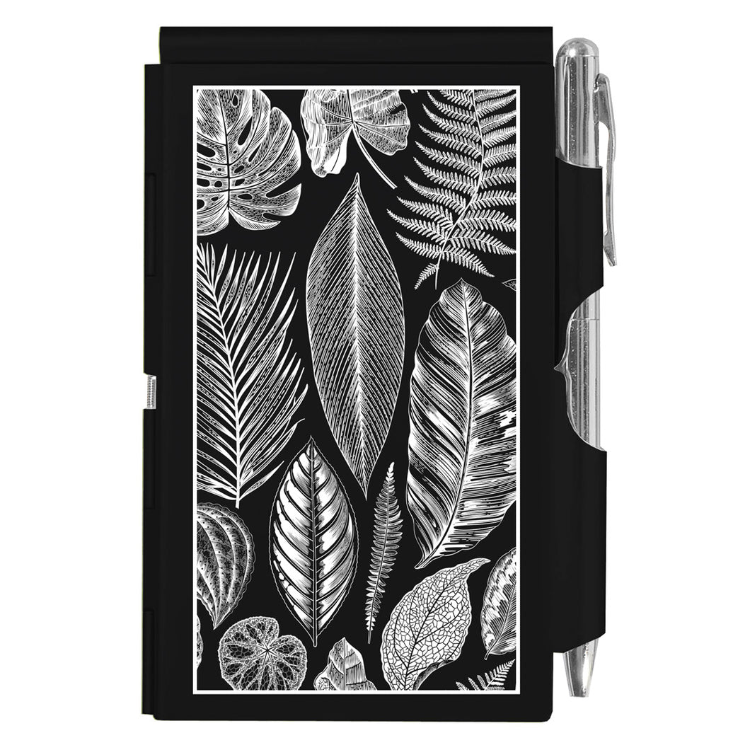 botanical leaves flip note