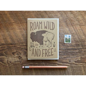buffalo roam birthday card