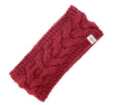 Load image into Gallery viewer, burgundy full soho headband