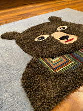 Load image into Gallery viewer, Christmas bear area rug indiana rug co