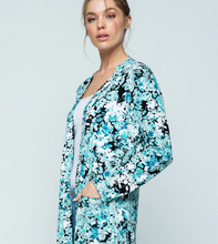 Load image into Gallery viewer, Open Cardigan | Blue Flowers - InRugCo Studio & Gift Shop
