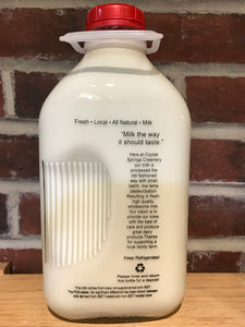 Half Gallon Whole Milk | Crystal Springs Creamery - InRugCo Studio & Gift Shop