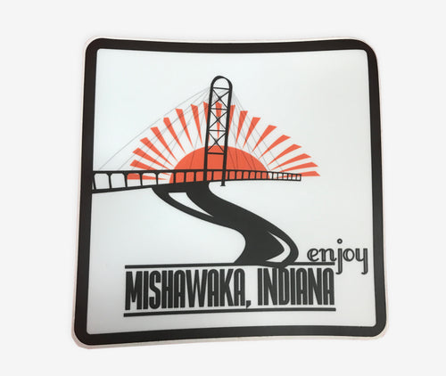 Enjoy Mishawaka, Indiana Sticker - InRugCo Studio & Gift Shop