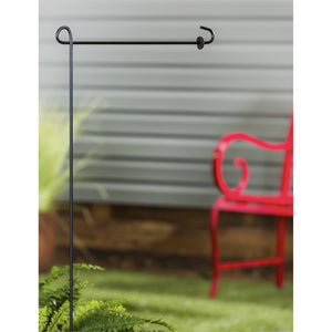 Garden Sized Flag Stand 1pc | Evergreen - InRugCo Studio & Gift Shop