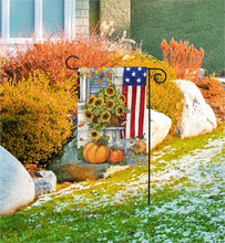 Load image into Gallery viewer, fall porch garden flag studio m