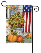Load image into Gallery viewer, fall porch garden flag