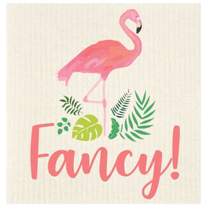 fancy flamingo Swedish dishcloth